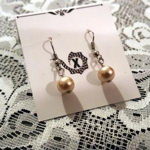 "Ivory 1"" Artisan Made Drop Earrings"